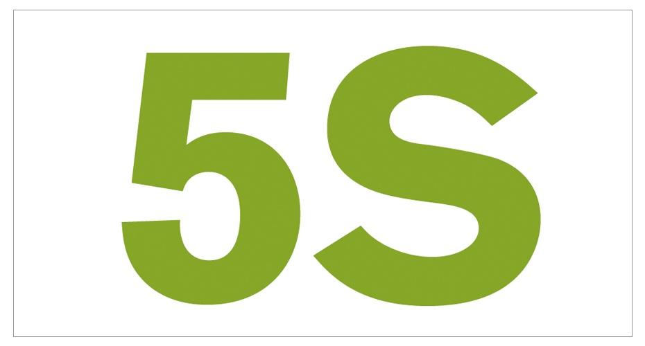 5S - viisäs - järjestyksen ylläpitoon.
